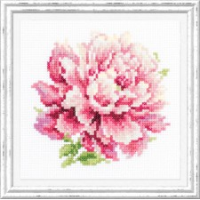 Cross stitch kit Peony