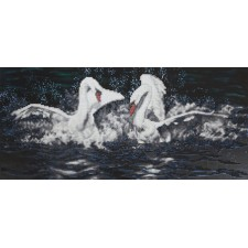 Diamond Painting Witte zwanen - White Swans