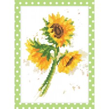 Diamond Painting Zonnebloemen - Watercolor sunflowers