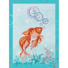 Diamond Painting Goudvis - Goldfish - Freyja Crystal