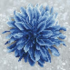 Diamond Art Blauwe Dahlia - Blue Dahlia