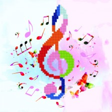 Diamond Art Treble Clef - Leisure Arts