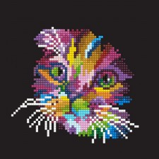 Diamond Art Colored Cat