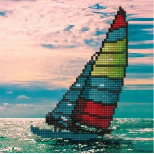 Diamond Art Sailboat