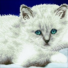 Diamond Art Witte kat - White Cat
