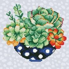 Diamond Art Schaal Catussen - Succulent Bowl