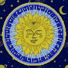 Diamond Art Zon mandala - Sun Mandala