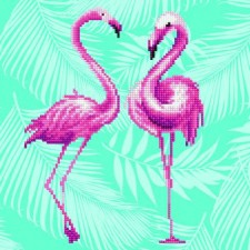 Diamond Art Flamingo Duo