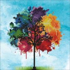 Diamond Art Rainbow Tree