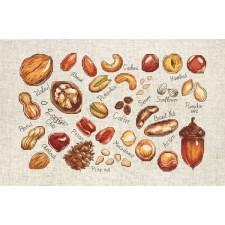 Borduurpakket Noten en zaden - Nuts and Seeds