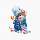 Cross stitch kit Christmas mouse