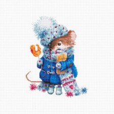 Cross stitch kit Christmas mouse - Luca-S