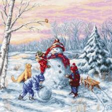 Borduurpakket Prettige Kerst - Merry Christmas