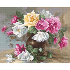 Cross stitch kit Vase with Roses