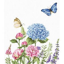 Borduurpakket Zomerbloemen en Vlinders -Summer Flowers and Butterflies