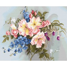 Cross stitch kit Bouquet with Bells - Luca-S