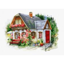Borduurpakket Mooi huis op het platteland -Beautiful Country House