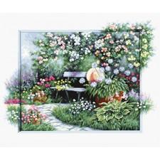 Borduurpakket Bloeiende tuin - Blooming garden