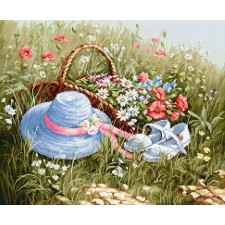 Cross stitch kit Meadow with poppies - Luca-S