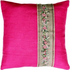 Pillow Rose Banner Pink