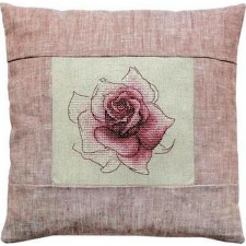 Borduukussen roos- Cushion Rose