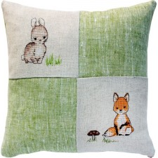 Borduukussen konijn en vosje -Cushion Bunny and Fox