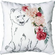 Borduurkussen beer - Pillow Bear