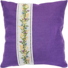 Kussenpakket Cushion Flowers Purple