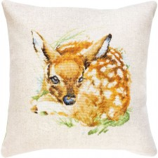 Cross stitch kit Kussen Hert -  Deer