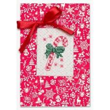 Kaart kerstsnoepgoed - Postcard Christmas Candy