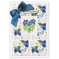 Borduurpakket Kaart Flower