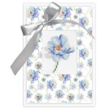Cross stitch kit Kaart bloem - Postcard Flower