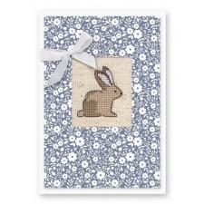 Borduurpakket Kaart Konijntje - Postcard Bunny