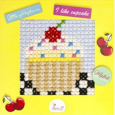 Borduurpakket My First Embroidery Cupcake