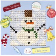 Borduurpakket My First Embroidery Sneeuwman