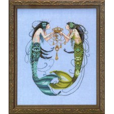 Borduurpatroon The Twin Mermaids