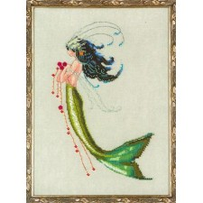 Borduurpatroon Petite Mermaid Collection: Mermaid Verde
