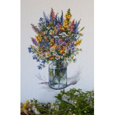 Borduurpakket Distelboeket - The Thistle Bouquet