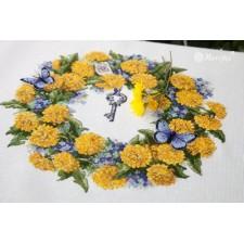 Borduurpakket Bloemenkrans - Dandellion Wreath