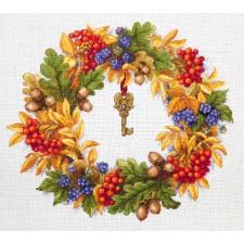 Borduurpakket Herfstkrans - Autumn Wreath