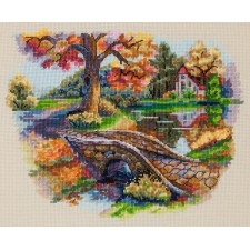 Borduurpakket Herfstlandschap - Autumn Landscape