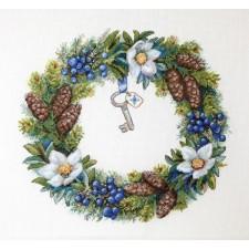 Borduurpakket Winterkrans - Winter Wreath