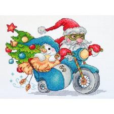 Borduurpakket Christmas Racing