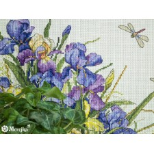 Borduurpakket Irissen - Irises