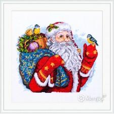 Borduurpakket Vrolijk Kerstfeest - Merry Christmas!