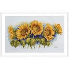 Borduurpakket Heldere zonnebloemen - Bright Sunflowers