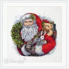 Cross stitch kit Santa with Wreath - Merejka