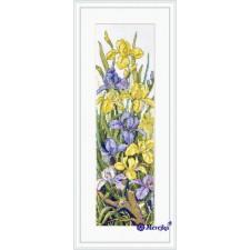 Borduurpakket Kikkers tussen Bloemen - Frogs in the Flowers