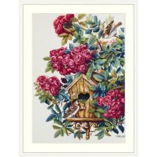 Cross stitch kit Rose Bush - Merejka