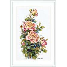 Cross stitch kit Yellow Roses - Merejka